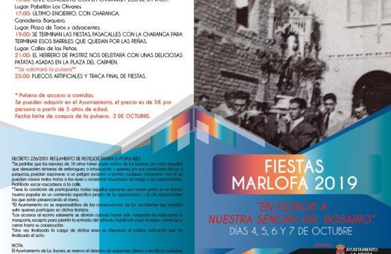 Fiestas Marlofa 2019