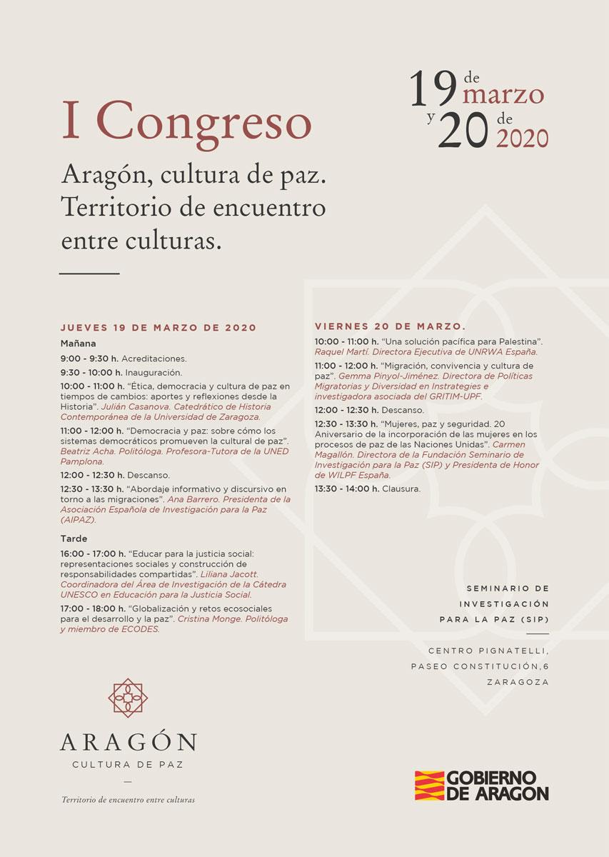 I Congreso Aragón, cultura de paz